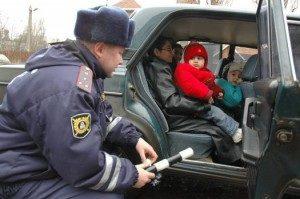какие штрафы по новому закону за неправильную перевозку детей
